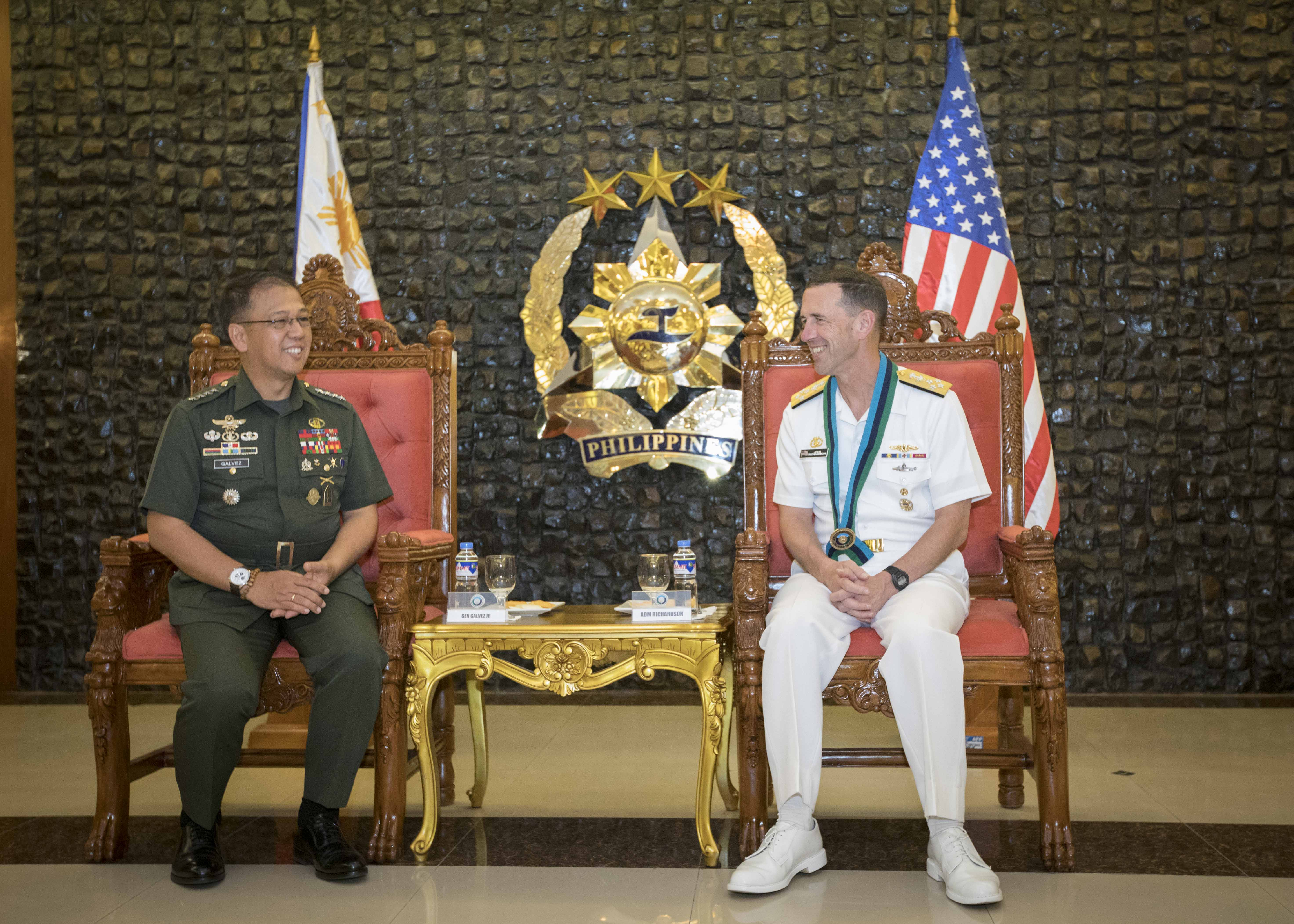 Chief of Naval Operations Visits Philippines, Highlights