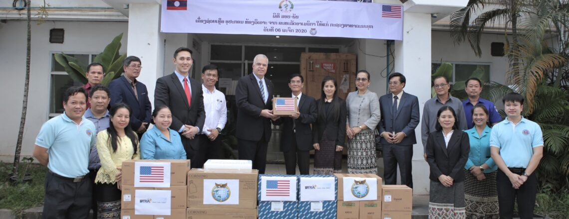 U.S. Embassy Donates COVID Kits and Supplies to Lao PDR