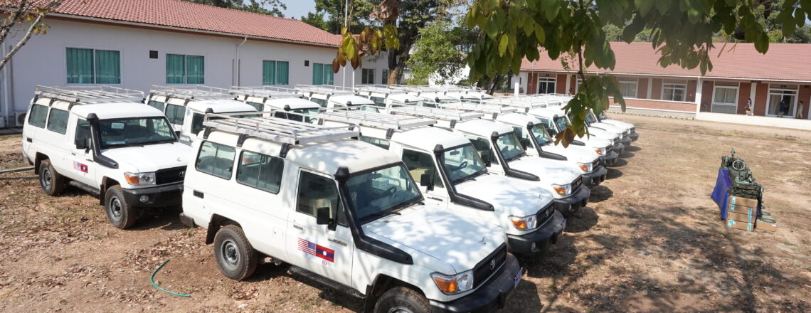 United States Provides more than USD$1 Million in Vehicles, Equipment to the Lao National