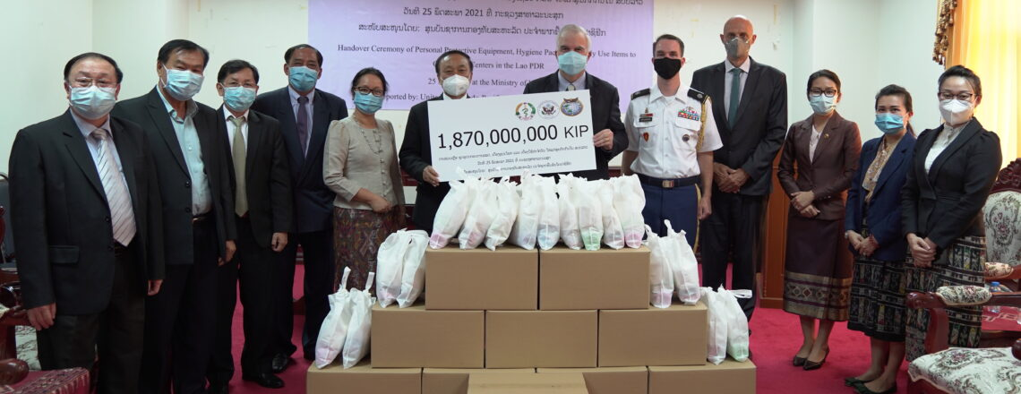 U.S. Presents Personal Protective Equipment and Supplies to the Minister of Health