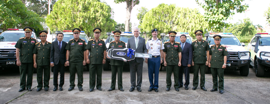 United States Hands Over Ambulances to Ministry of National Defense
