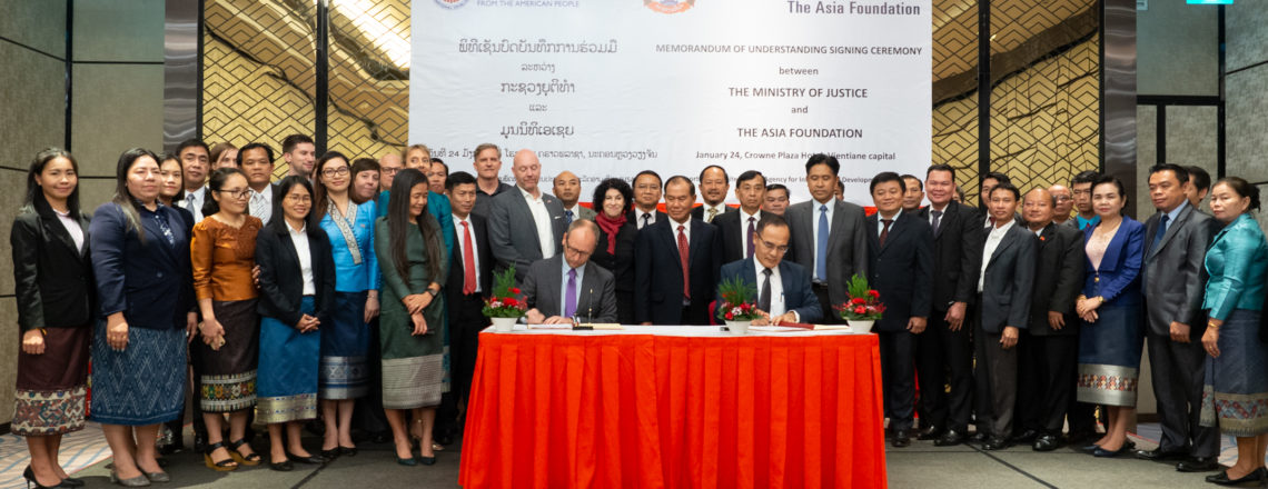 U.S. Launches New Program to Strengthen the Rule of Law in Laos