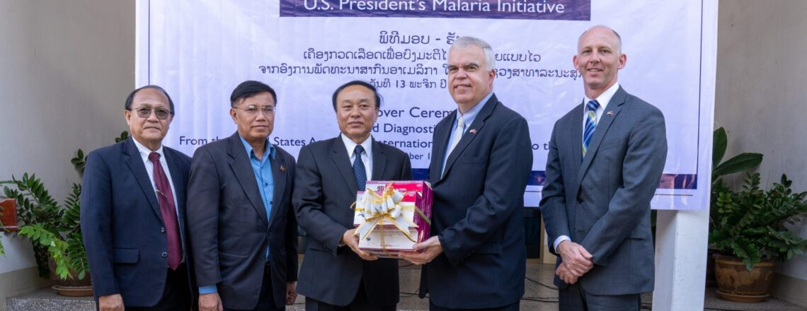 U.S. Provides 50,000 Malaria Test Kits to Lao PDR