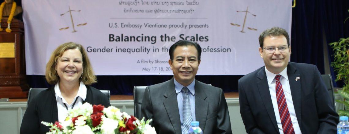 American Filmmaker Promotes Gender Balance in Lao Legal Field