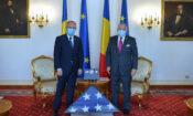 Ambassador Adrian Zuckerman and Foreign Minister Bogdan Aurescu