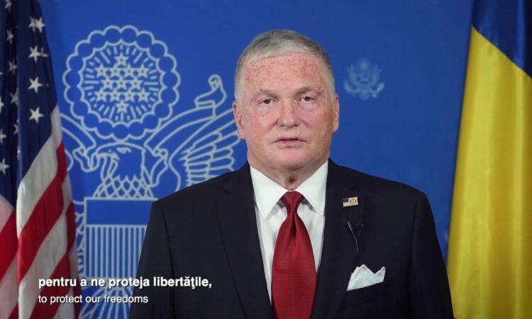 Ambasadorul Adrian Zuckerman la aniversarea a 140 de ani de relații diplomatice SUA-România