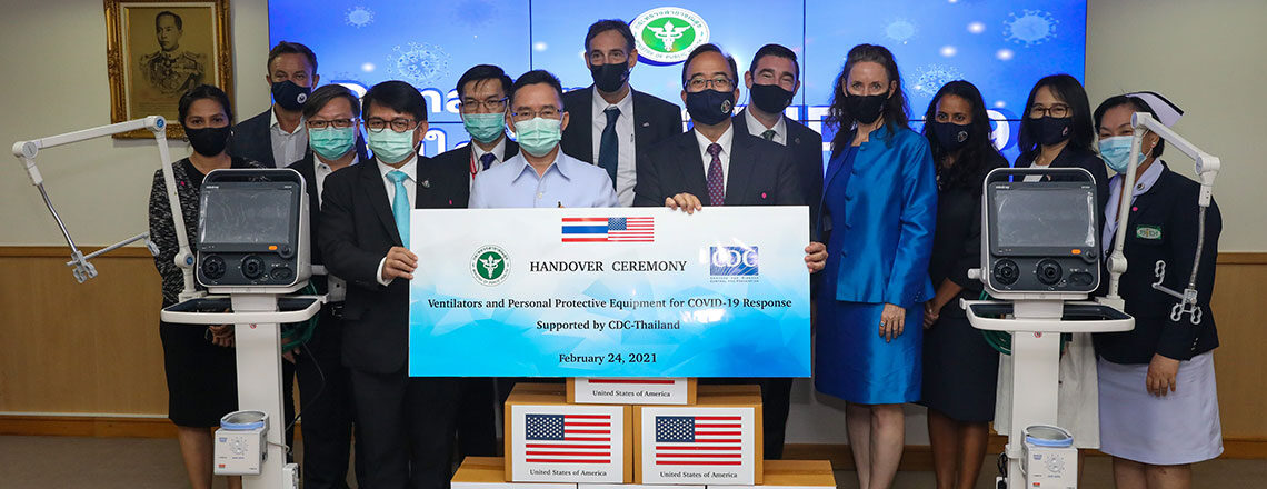 United States provides over $410,000 in ventilators and PPE to Thailand MOPH