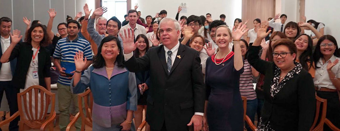 Charge d'Affaires Peter Haymond visited Chiang Mai and Chiang Rai