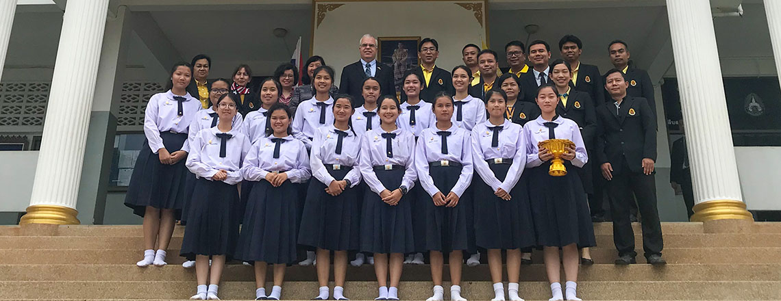 Charge d'Affaires Peter Haymond visited Loei