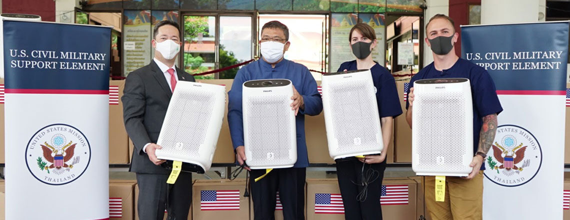 U.S. Mission Thailand Helps Teachers and Students Breathe Better Air in Northern Thailand