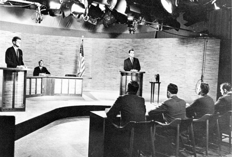 John F. Kennedy becomes the youngest person ever to be elected as U.S. President. This was also the first time the presidential candidates debated on live television. Many credited JFK's win to his ability to project his charm and personality through the televised debates.