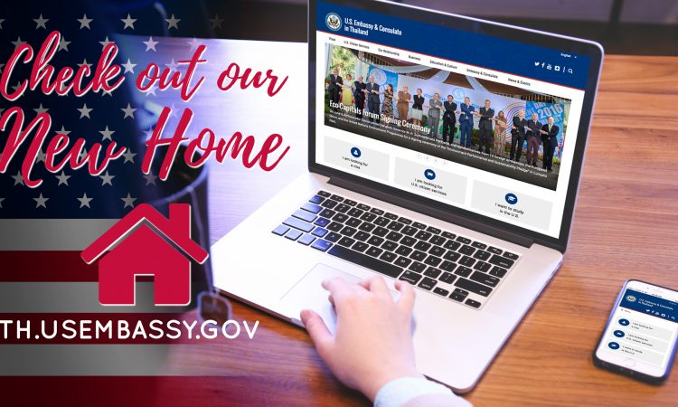 Brand New U.S. Embassy Bangkok Website LIVE NOW!