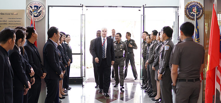 Deputy Chief of Mission (DCM) Peter Haymond visited the International law Enforcement Academy (ILEA)