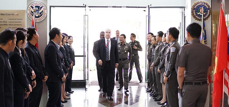 Deputy Chief of Mission (DCM) Peter Haymond visited the International law Enforcement Academy (ILEA)