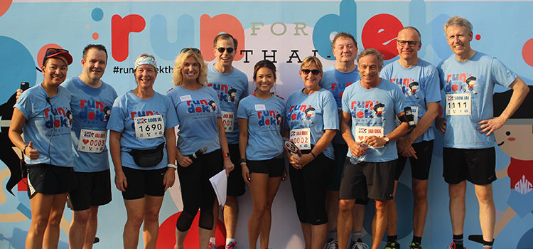 Ambassador Glyn Davies joined Run for Dek Thai