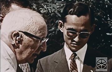 His Majesty King Bhumibol Adulyadej visits Mount Auburn Hospital in Massachusetts