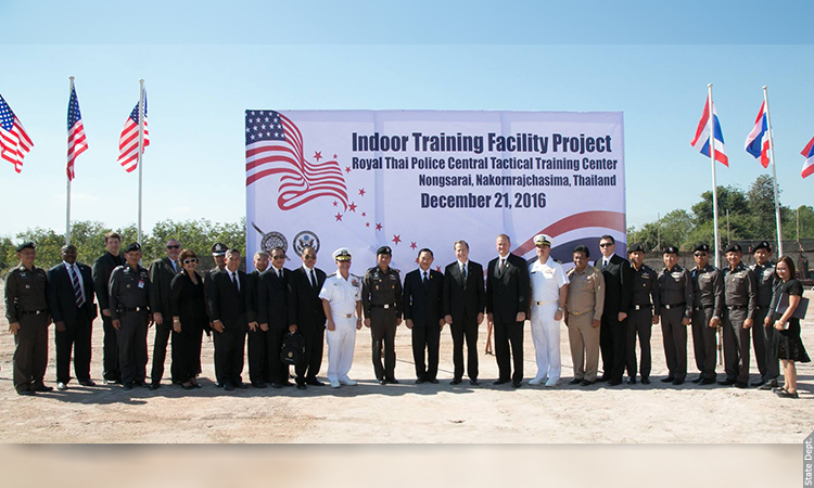 Ground Breaking Ceremony U.S.-Assisted Construction of Thai Police Training Center