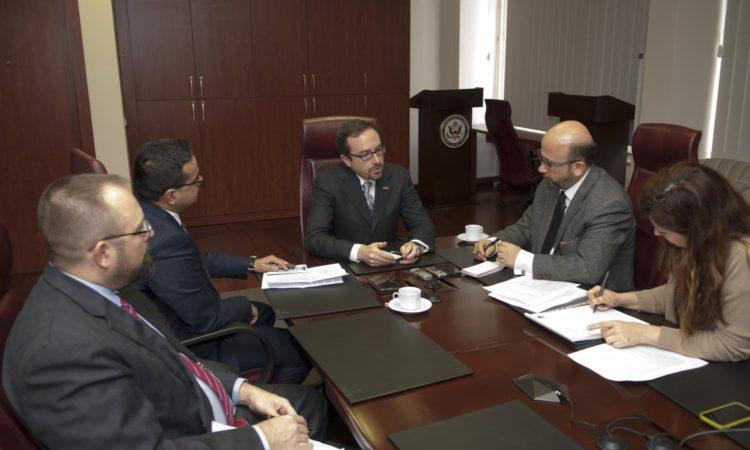 Ambassador Bass's Interview with Sabah Ankara Bureau Chief Okan Muderrisoglu and Daily Sabah Correspondent Ali Unal