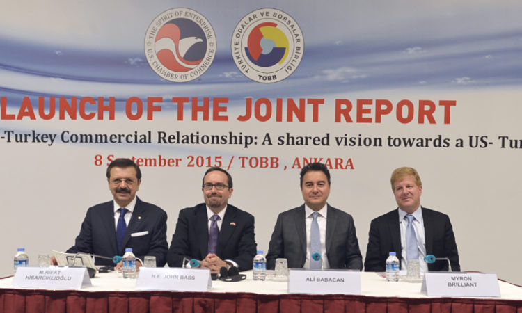 """Ambassador Bass at US Chamber of Commerce and TOBB event to launch their joint report:""""Upgrading the U.S.-Turkey Commercial Relationship: A shared vision towards a US-Turkey FTA"""""""