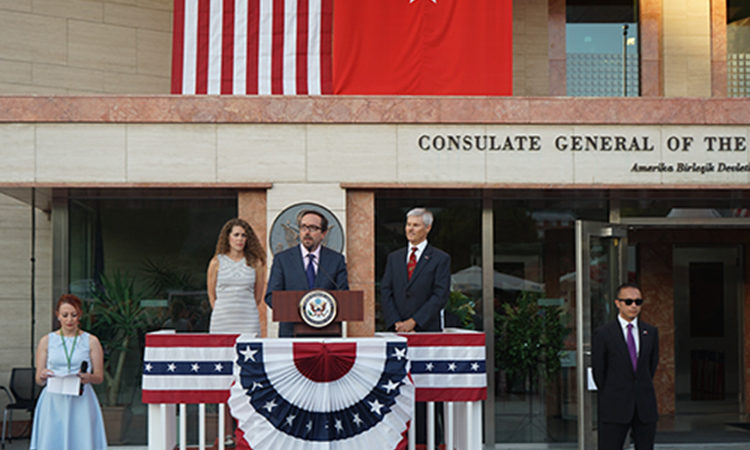 Ambassador John Bass at Independence Day Reception in Istanbul