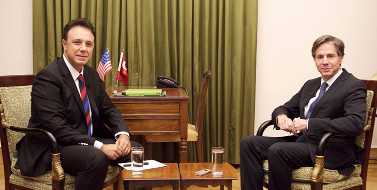 Deputy Secretary Antony Blinken with NTV's Ahmet Yeşiltepe