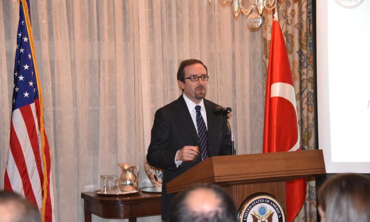 Ambassador John Bass hosted a networking event for Turkish entrepreneurs at his residence on November 29, 2016