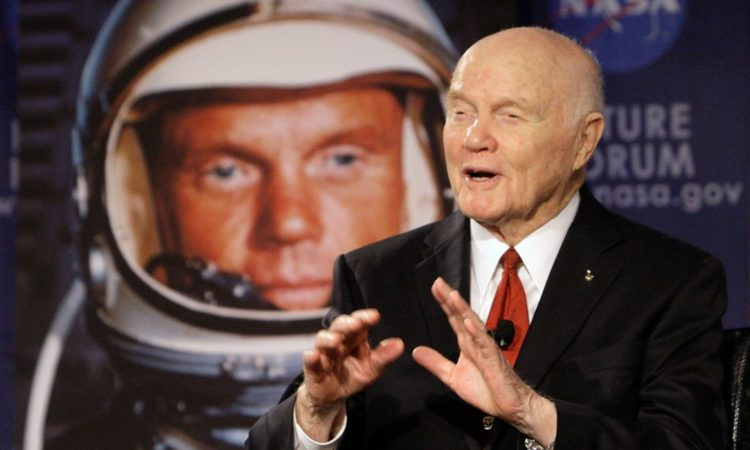 """Every bit of human progress that's ever been made occurred because somebody was curious about doing things in a new or different ... way,"" said John Glenn, who died at 95. (© AP Images)"