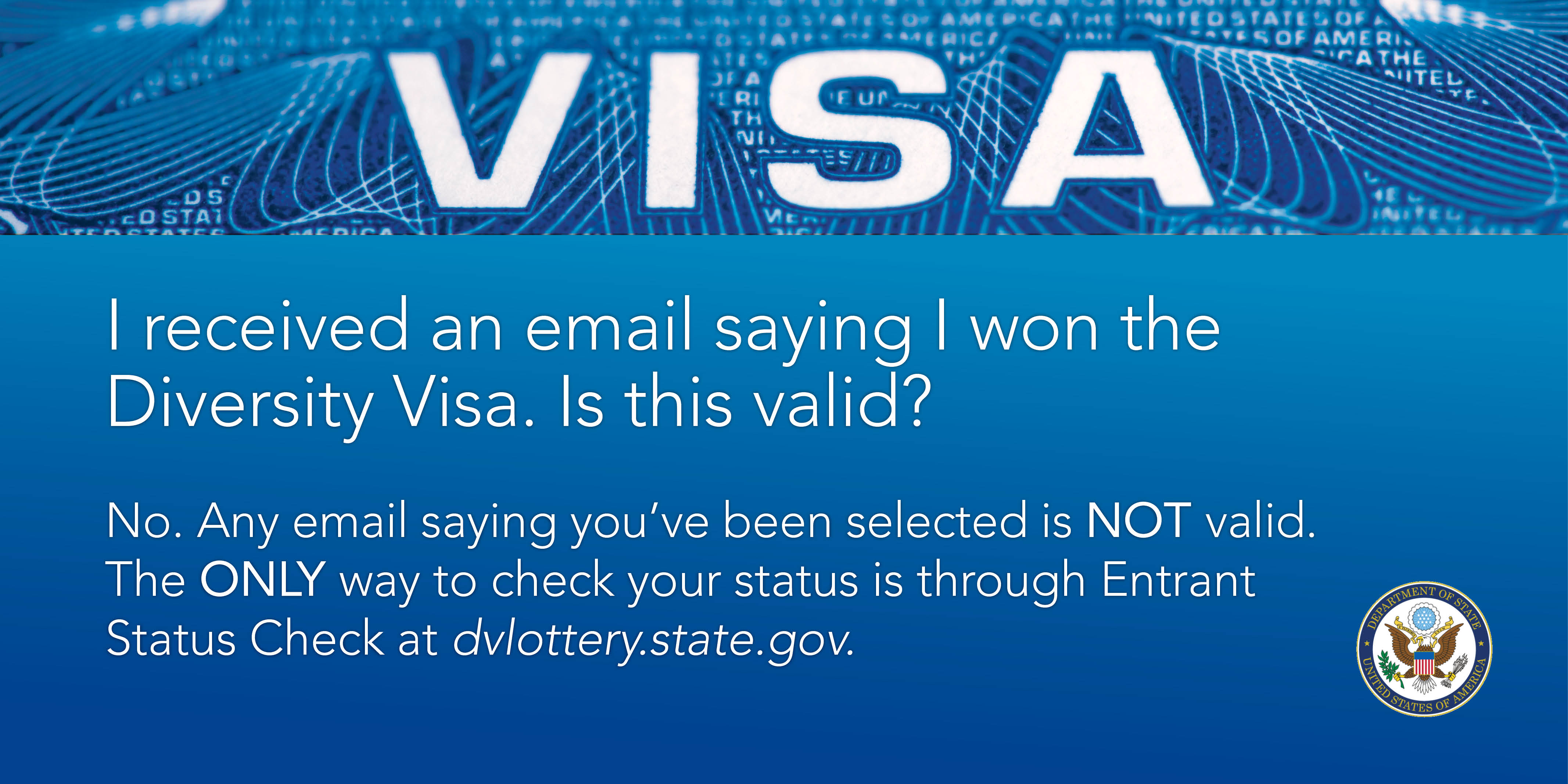 Electronic Diversity Visa Lottery Results | U S  Embassy