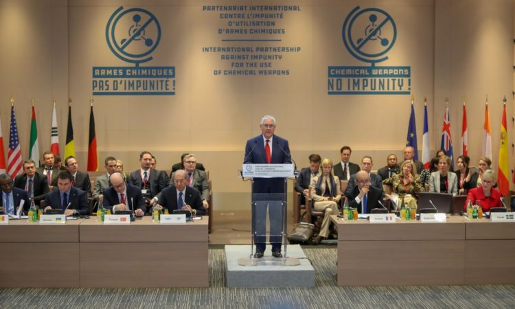 Secretary Tillerson Delivers Remarks at the Conference Launching the International Partnership Against Impunity for the Use of Chemical Weapons - State Dept Image