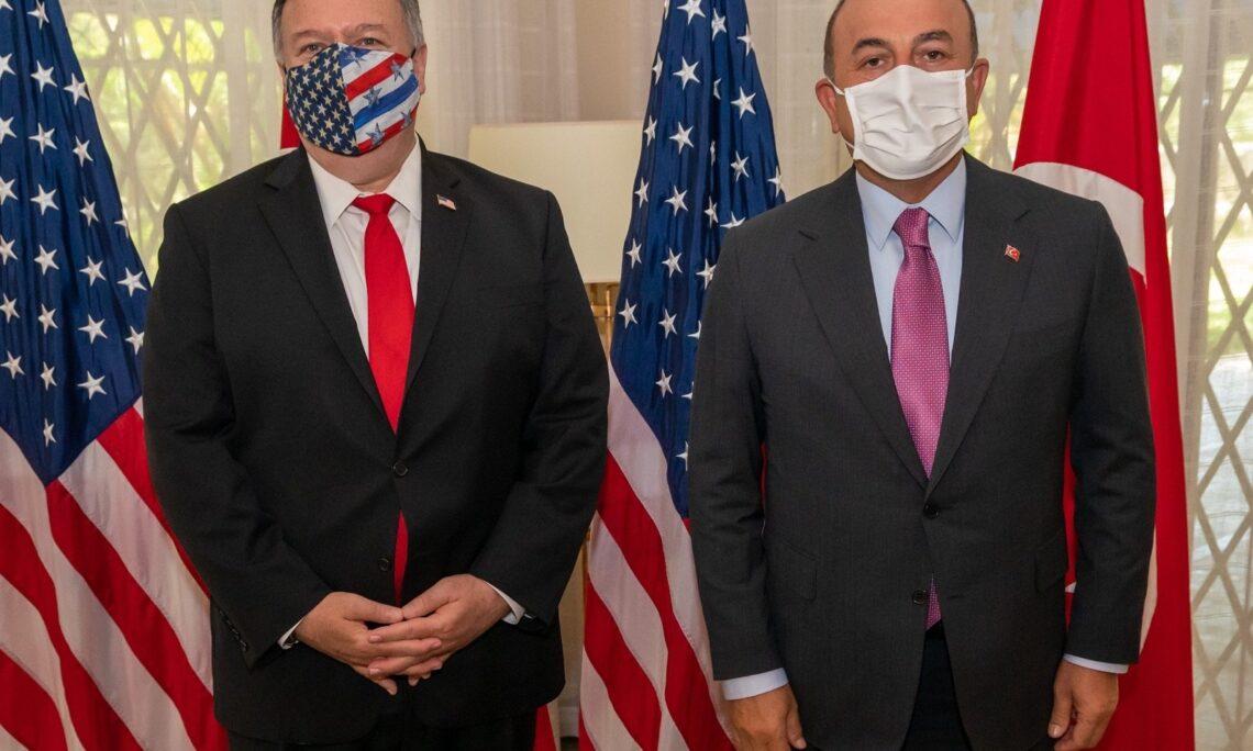 Secretary Pompeo with Turkish Foreign Minister Cavusoglu