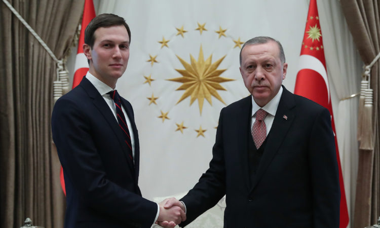 President Recep Tayyip Erdogan and Senior Advisor to the President Jared Kushner met in Ankara on February 27, 2019