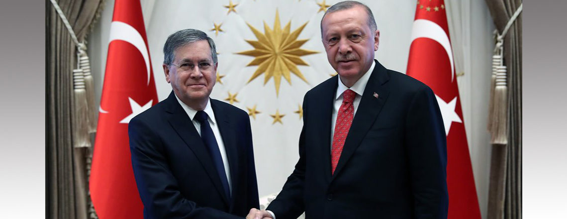 Ambassador Satterfield presented his letter of credence to President Erdogan