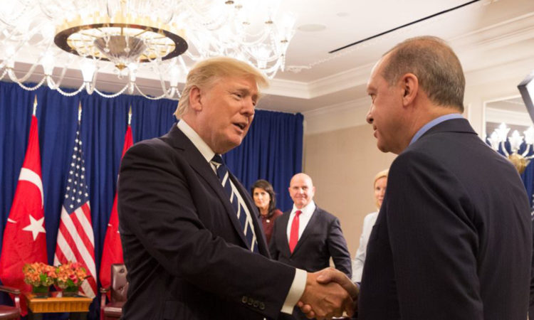 President Donald J. Trump and President Recep Tayyip Erdoğan of Turkey at the United Nations General Assembly (Official White House Photo by Shealah Craighead)
