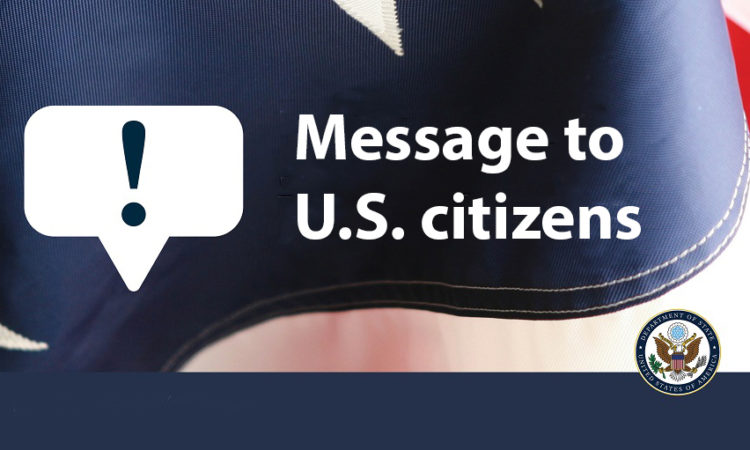 Message to U.S. citizens
