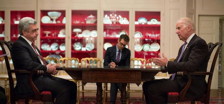President Sargsyan meets VP Biden