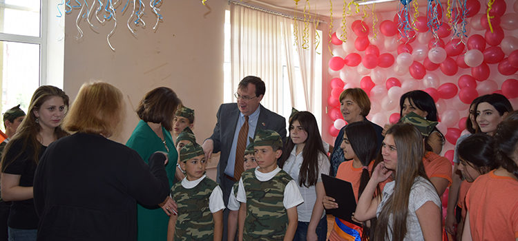 U.S. Ambassador Mills Visits Orphanage to Examine Child Welfare Reform