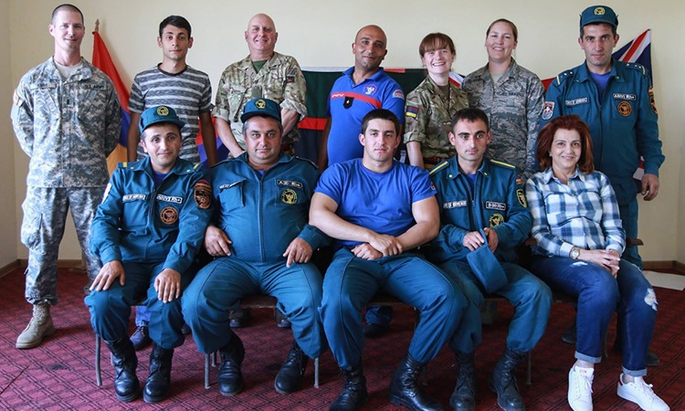 Kansas National Guard medical and hazardous material experts to train firefighters in Armenia
