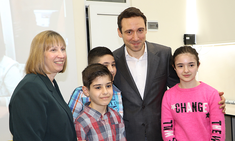 U.S. Ambassador Lynne Tracy and Yerevan Mayor Hayk Marutyan opened a new technological hub in Yerevan