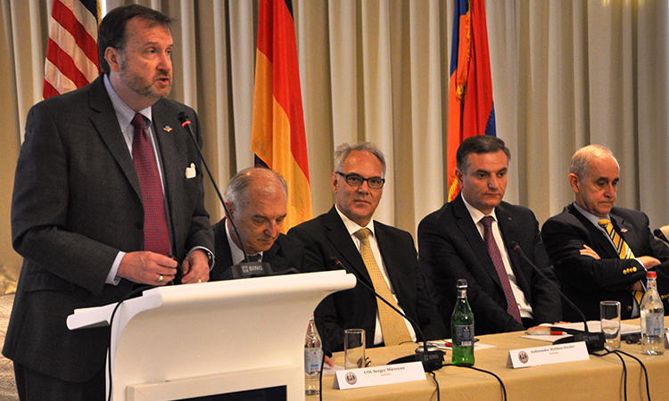 Alumni of George C. Marshall Center discuss Armenia's security challenges