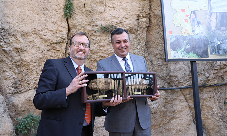 Ambassador Mills opens U.S. government-funded Areni Cave preservation project