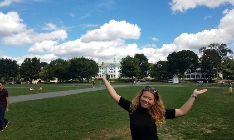 Frederikke S. Fürst at the Dartmouth Campus at the beginning of her year in the U.S. Courtesy photo