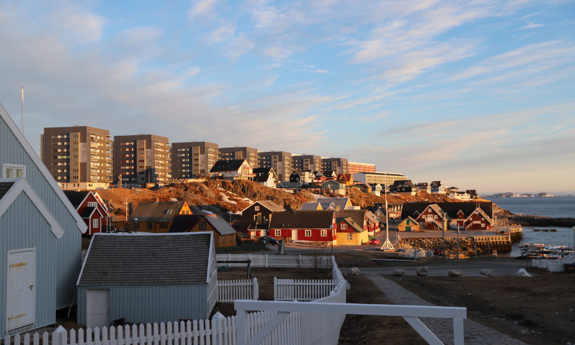 Nuuk skyline. Summer evening. Photo: State Dept.