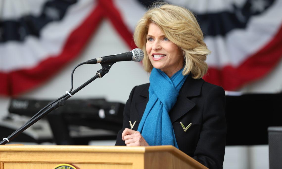 Ambassador Sands delivering remarks. Photo: State Dept.