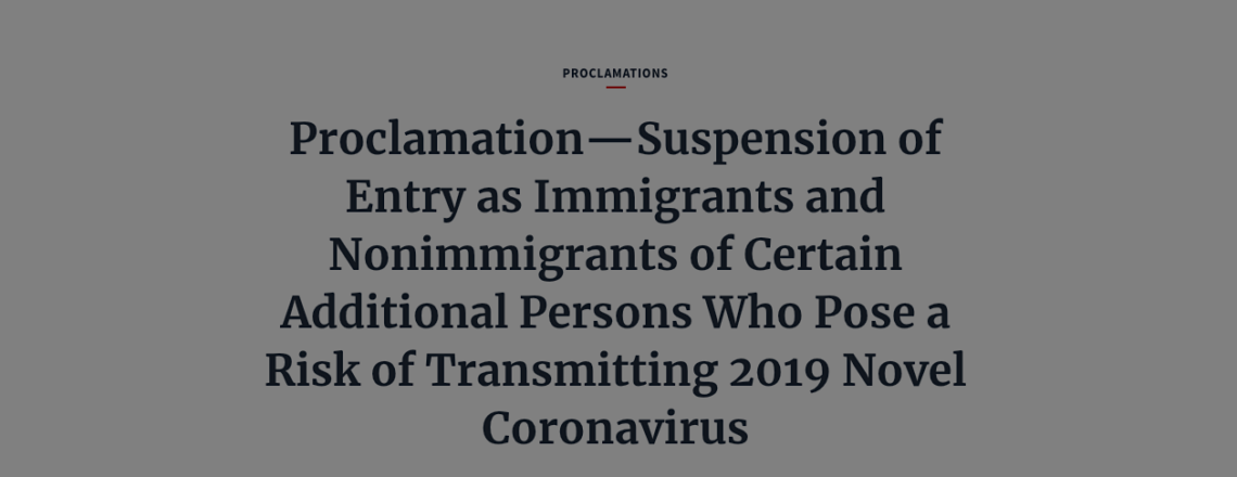 IMPORTANT INFORMATION REGARDING U.S. TRAVEL: