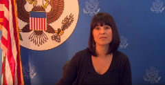 video screenshot of a woman