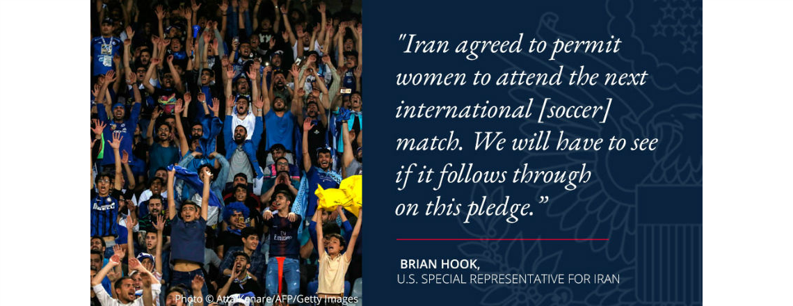 Will Iranian regime allow women into sport stadiums?