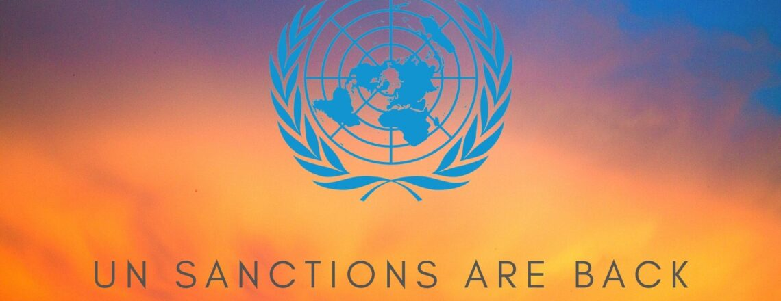 The Return of UN Sanctions on the Islamic Republic of Iran