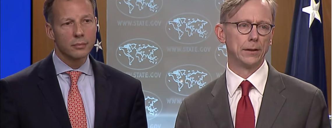 نماینده ویژه مسائل ایران، برایان هوک و معاون انرژی، آقای فرانسیس فانون